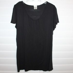 Just My Size Black Blouse